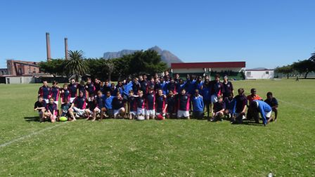 Lochinver House pupils on their rugby tour of South Africa