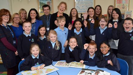 Commonswood school council and teachers celebrate their good Ofsted mark