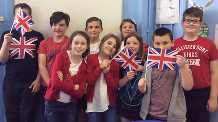 Red, white and blue at Tilney All Saints Primary School