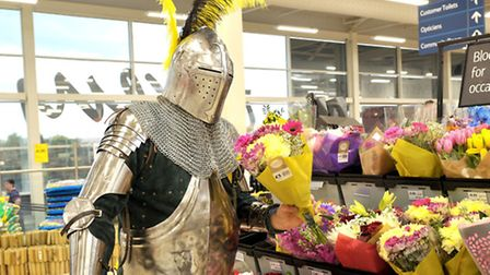 Medieval group in store at Tesco Extra Wisbech. Staff will be in stocks and there will be a variety