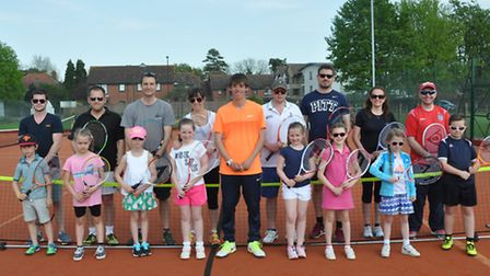 Competitors with coach Ollie Brett centre. Winners Sally and Martha Hoyles are pictured on the left
