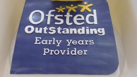 Tewin Under-fives Pre-school's Ofsted cake