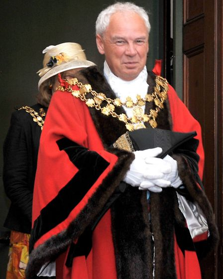David Hodgson out going Wisbech Mayor. Picture: Steve Williams.