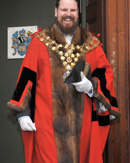 Wisbech Mayor making at Wisbech town hall. New Mayor Garry Tibbs. Picture: Steve Williams.