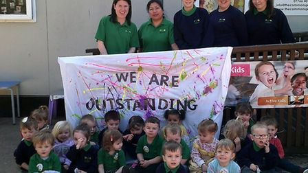 The Commons Pre-school and Breakfast Club is celebrating its Ofsted report