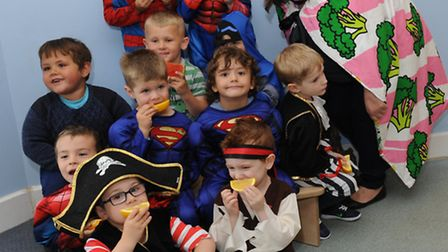 Superhero day at Elm School Nursery. Photo: Rob Morris.
