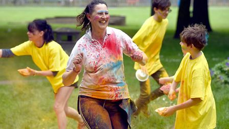 Wisbech colour run part of The Brinks Festival..