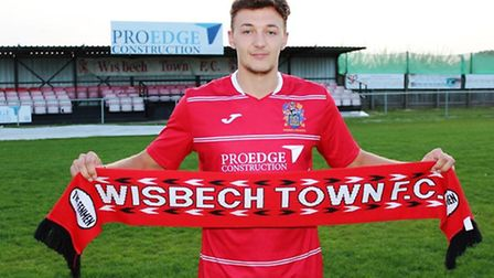 Sam Murphy has returned to Wisbech Town after a four year absence. Photo: Spencer Larham