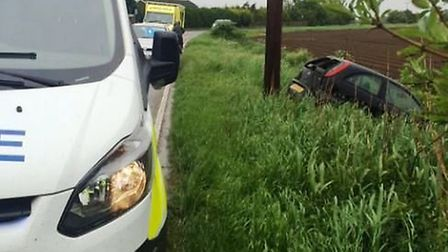 Two people injured after crash in Guyhirn