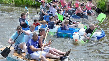 Outwell Festival Raft Race. Picture: Steve Williams.