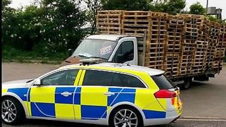 Pallet lorry seized by police