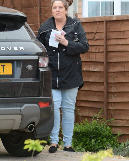Amy Asker who was fined £90 after knocking over and killing Seth Dixon, 7, in Tydd Gote, Cambs. whil