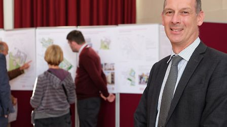 Onslow St Audrey's School head teacher Michael Harpham with the school's exhibition