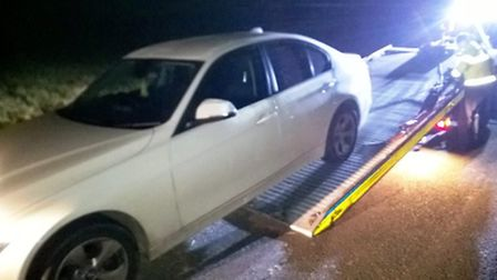 Police pursuit leads to abandoned car being seized in Wisbech