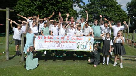 St Giles Primary School in South Mimms is celebrating its 'good' Ofsted report