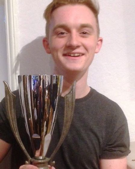 Neil Staveley with his best play award