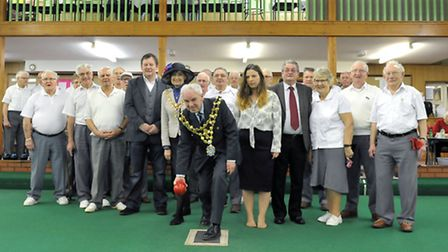 Wisbech bowls club official opening. Opened by the Mayor or Wisbech. David Hodgson. Picture: Steve
