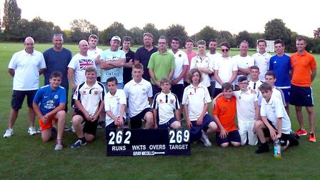 Players who took part in the Big Bash Cricket Tournament at Wisbech Town Cricket Club.