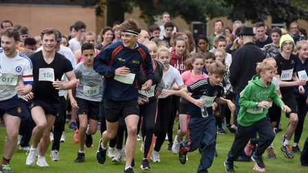 Students, staff, parents and friends raised 3,000 at Wisbech Grammar School's Race at Your Place eve
