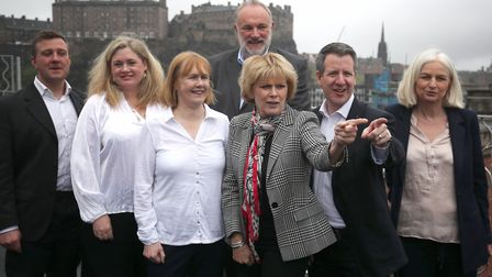 Supporters of Change UK with Anna Soubry MP and Chris Leslie MP. Photograph: Jane Barlow/PA.