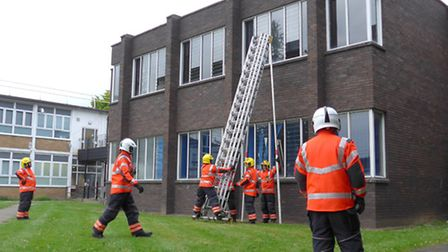 Firefighters unique training opportunity at the College of West Anglia.