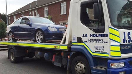 Uninsured car seized from Staithe Road, Wisbech
