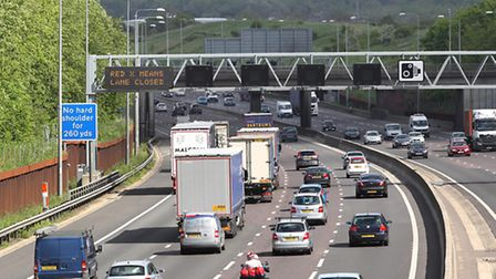 There will be delays near Potters Bar on the M25 because of roadworks