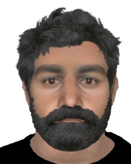 E-fit issued of RAF Marham abduction Suspect 1. Picture Norfolk Police