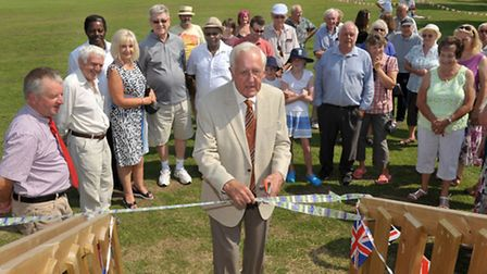 New community centre/sports pavilion at Welney. Opened by John Gilbert chairman of the William Marsh
