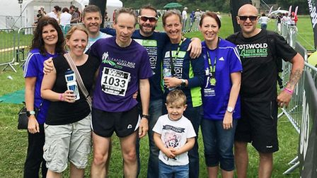 The team from Fenland Running Club at the Cotswold 24 Hour Relay.