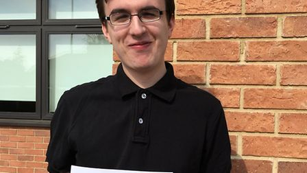 Thomas Clarkson Academy student Brodie Wedge celebrates his results which have earned him a place at