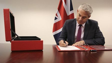 Stephen Barclay claims he has 'set in stone' the repeal of the European Communities Act 1972. Photog