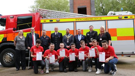 The Fenland team with their Prince's Trust certificates.