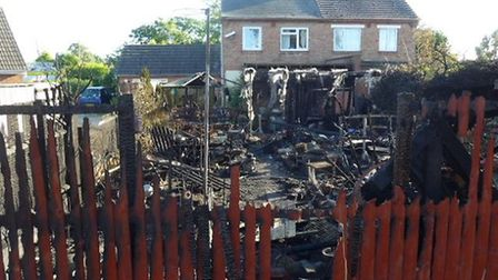 The aftermath of the fire in Leverington