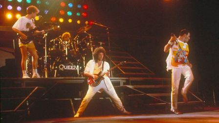 Freddie Mercury and Queen on stage [Picture courtesy of Queen Productions Ltd}