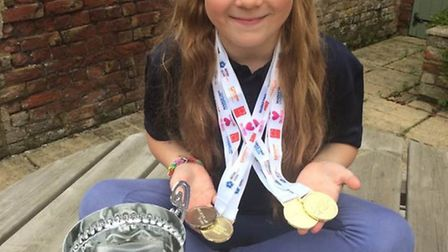Amelia Green taking part in the British Transplant Games