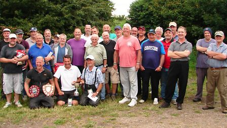 The anglers that took part in the Craig Kent Memorial fishing match.
