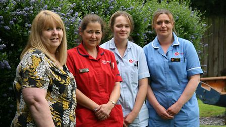 The staff at Lyncroft Care Home in Wisbech.