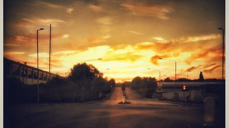 The golden sunset over Welwyn Garden City PICTURE: James McHenry