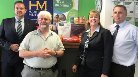 Building society manager David Boyce, food bank volunteer manager Keith Applin, customer reviewer Tr