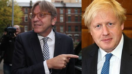 Guy Verhofstadt has called Boris Johnson out on his 'bluster' on the backstop: Brian Lawless/PA Imag