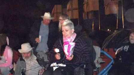Rachel Mitton at Glastonbury in the disabled camping section