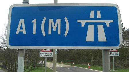 The Hatfield tunnel on the A1(M) will close for a period during the weekend