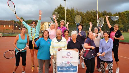 Players who took part in Wisbech Tennis Club's first beginner's tournament.