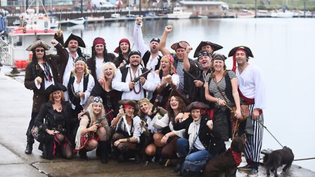 A group of pirates from March at Wells Pirate Festival. Picture: Ian Burt.