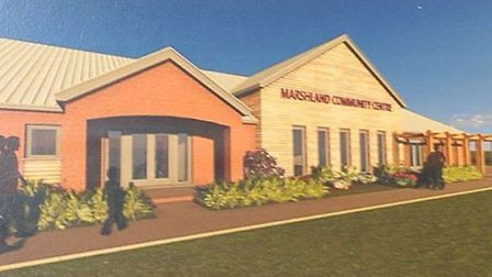 An artist's impression of the the Marshland St James and District Community and Sports Centre.