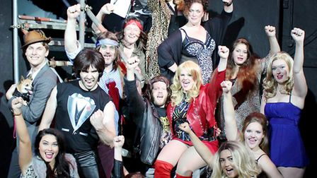 The Rock of Ages cast.