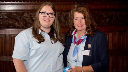 Jessica Tolliday of Wisbech earns a top national Gllr Guiding award