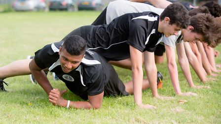 60 Uniformed service students at CWA Wisbech were put through their paces by the Royal Marine Visibi