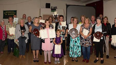 The winners from the Wisbech in Bloom competition.